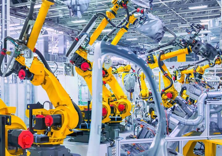 Technische Geflechte in der Automobilindustrie